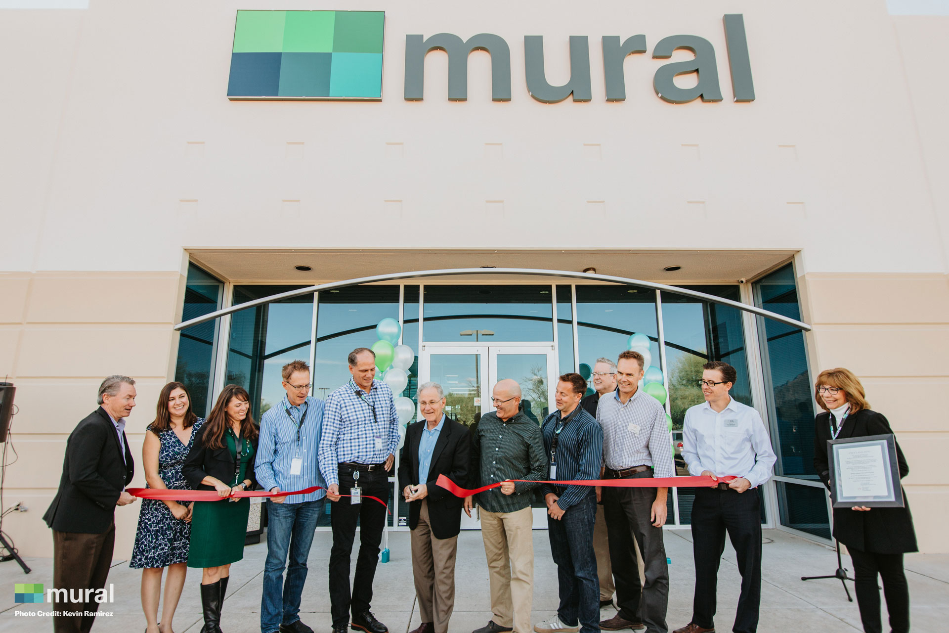 Mural Ribbon Cutting